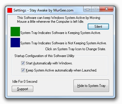 Stay Awake Utility to Keep Windows XP, Vista, Windows 7 or Windows 8 Active